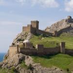 Строение обороны крепости в Судаке